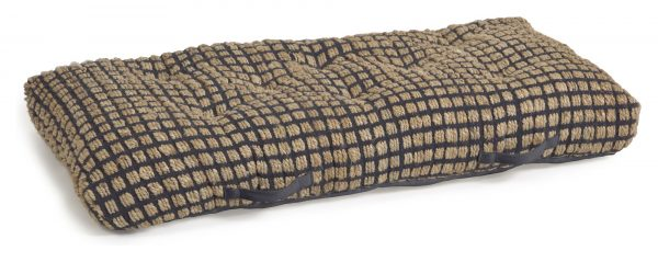 Kave Home Adelma Gulvpude - Jute/Sort Bomuld, 120x60