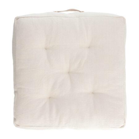 LAFORMA Sarit gulvpude - hvid bomuld (60x60)