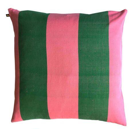 Pink/grøn gulvpude